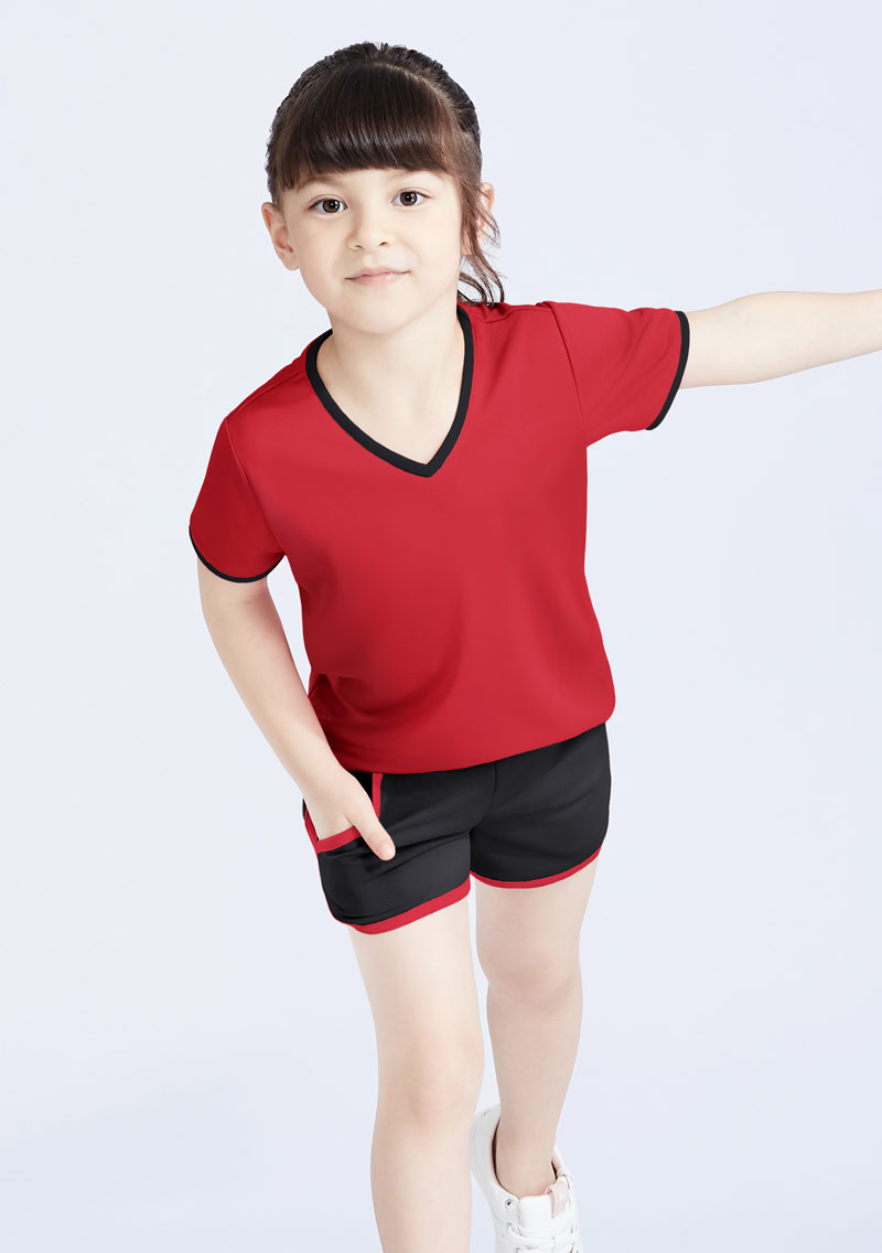 抗UV吸排運動短褲套裝-童裝