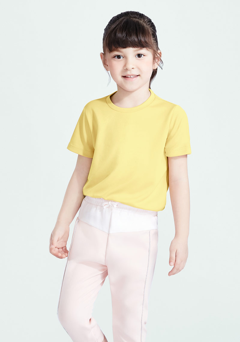 抗UV吸排圓領上衣-童裝
