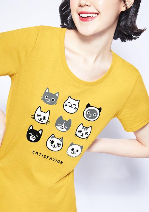 貓咪純棉印花T恤