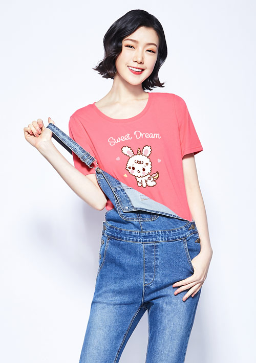 兔子純棉印花T恤