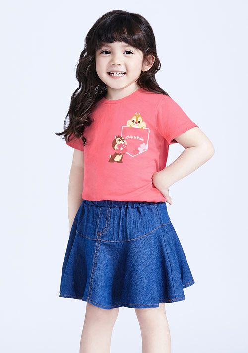 迪士尼奇奇蒂蒂系列純棉印花T恤-童裝-01