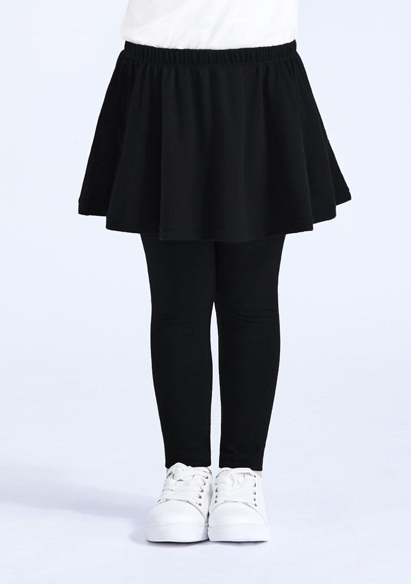 特級四面彈性假兩件圓裙內搭褲-童裝