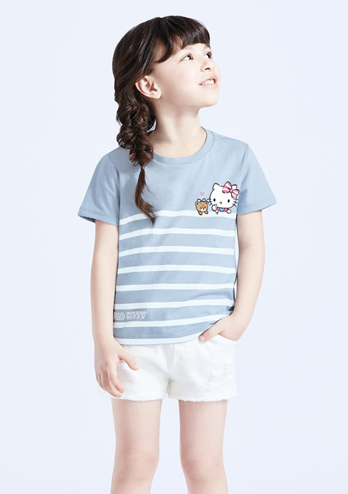 Hello Kitty 小熊純棉印花T恤-童裝-01