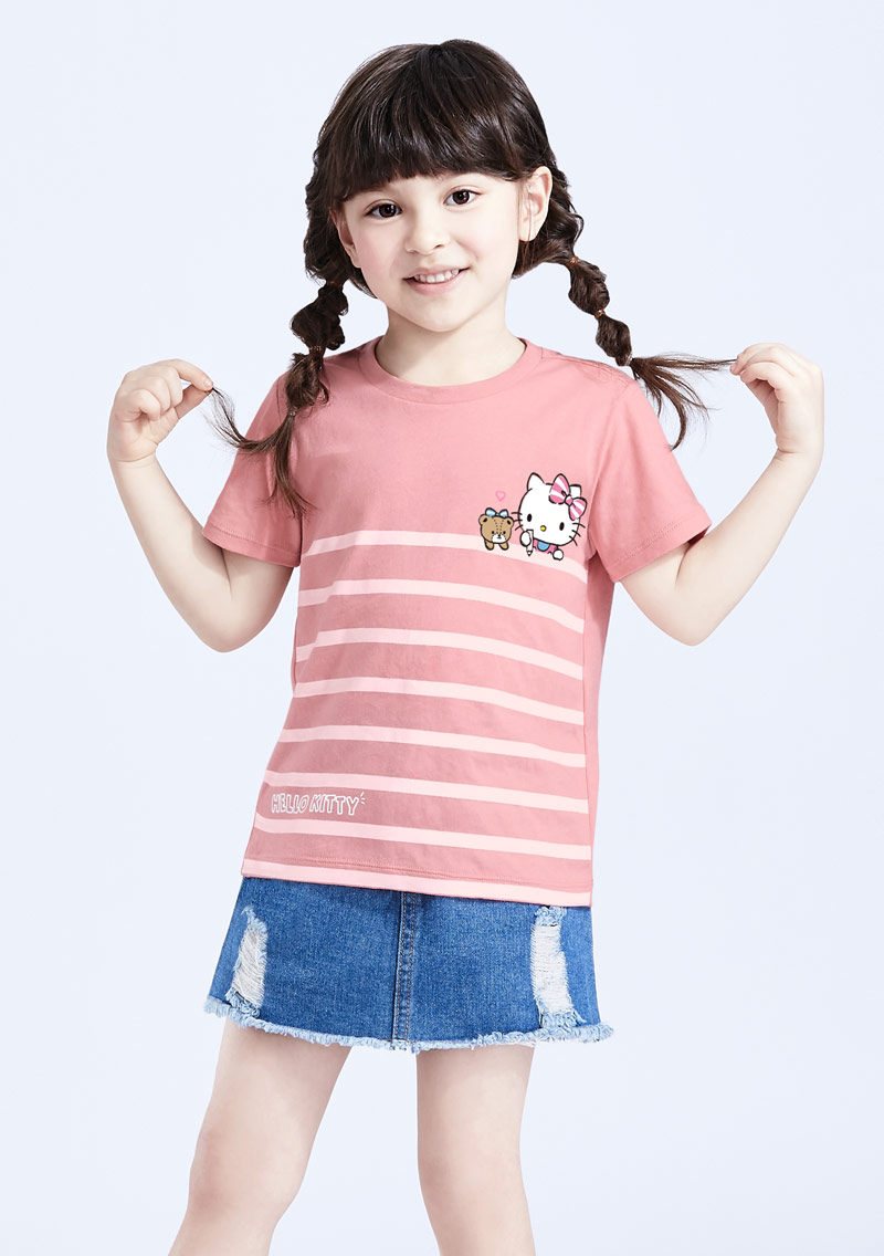 Hello Kitty 小熊純棉印花T恤-童-01