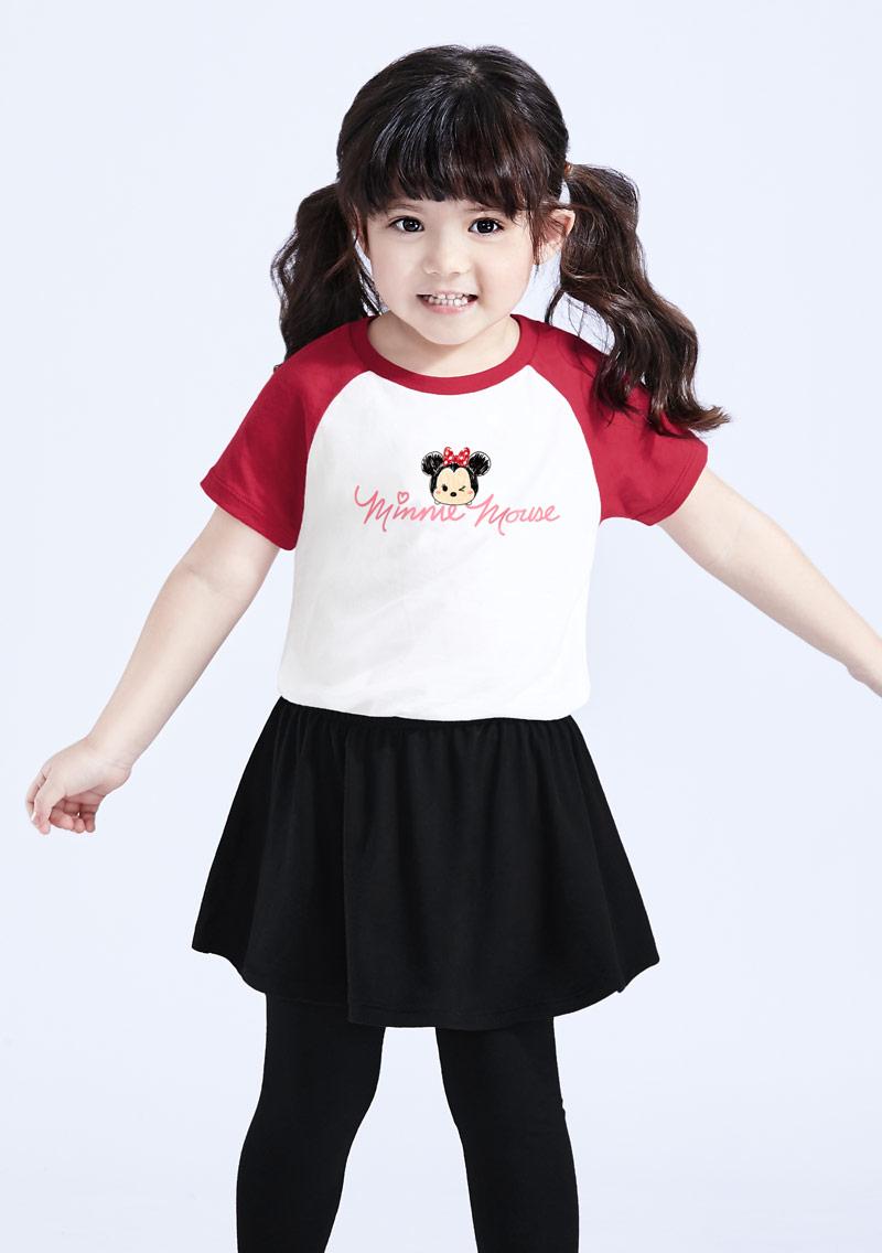 Tsum Tsum 系列純棉印花T恤-童裝-01