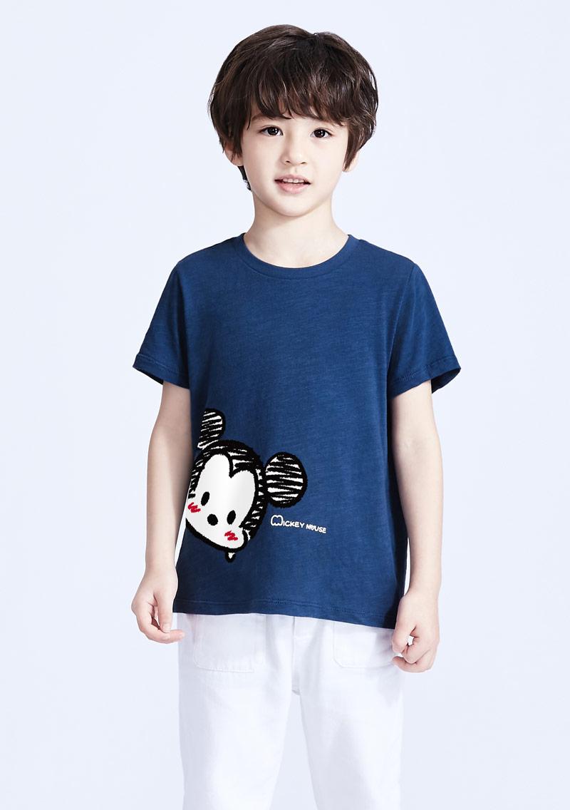 Tsum Tsum 系列竹節棉印花T恤-童裝-01