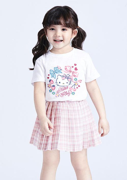 Hello Kitty 竹節棉印花T恤-童裝-02