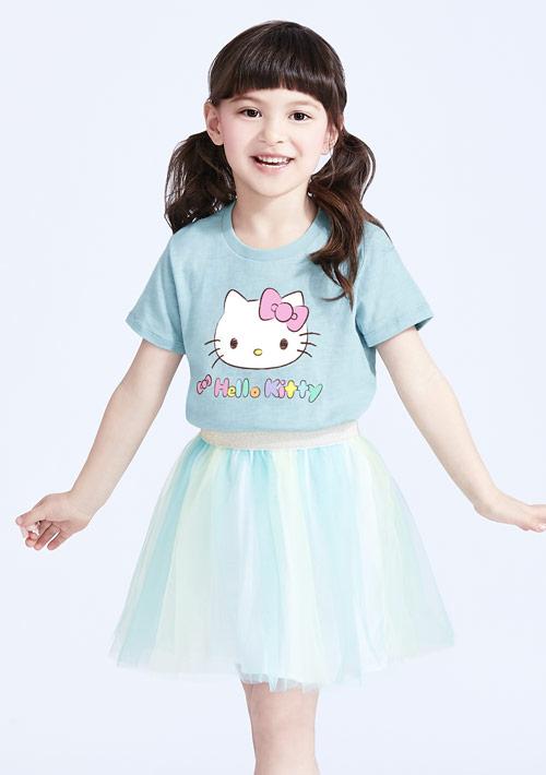 Hello Kitty 竹節棉印花T恤-童裝-03