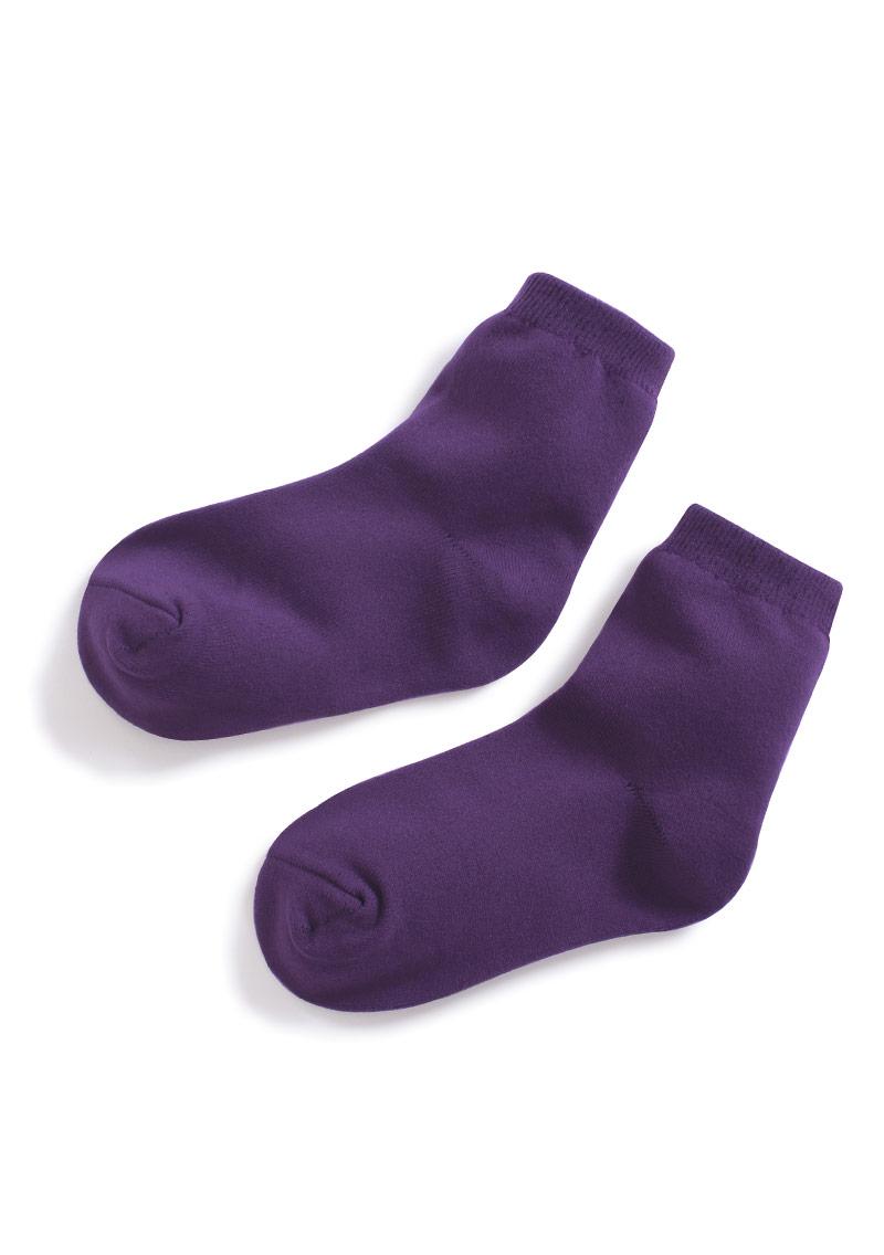 特級素色中筒襪-童
