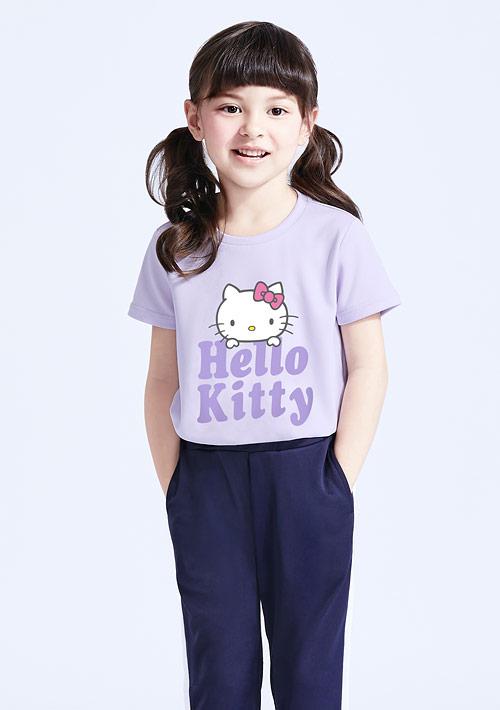 Hello Kitty 抗UV吸排印花上衣-童裝-01