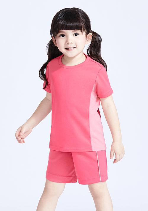 抗UV吸排配色運動短褲套裝-童裝