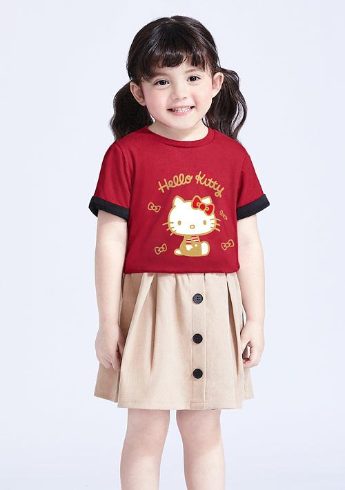 Hello Kitty 純棉印花T恤-童裝-01