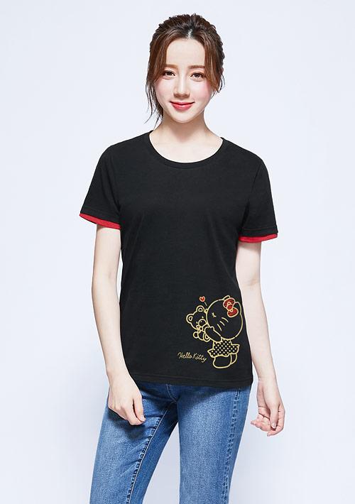 Hello Kitty 純棉印花T恤-01