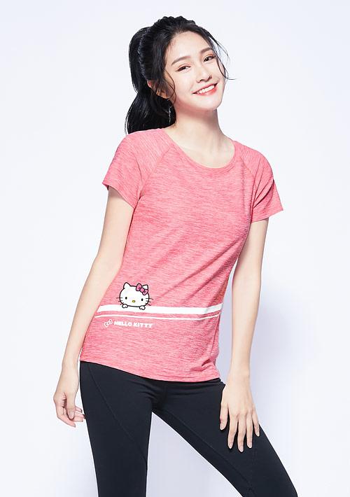 Hello Kitty 抗UV吸排涼感印花上衣-01