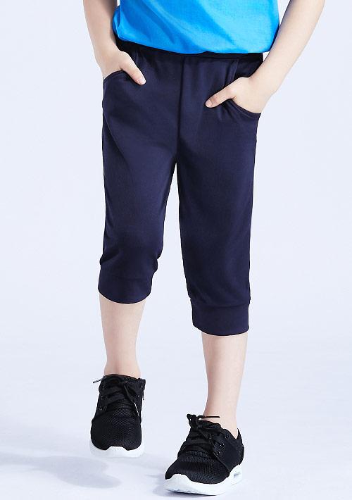 抗UV吸排束口七分褲-童裝