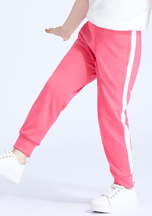 抗UV吸排配色束口長褲-童裝
