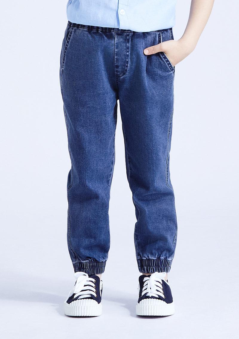 束口牛仔褲-童裝