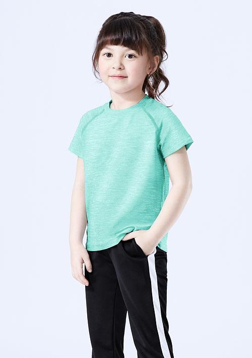 抗UV吸排涼感圓領上衣-童裝