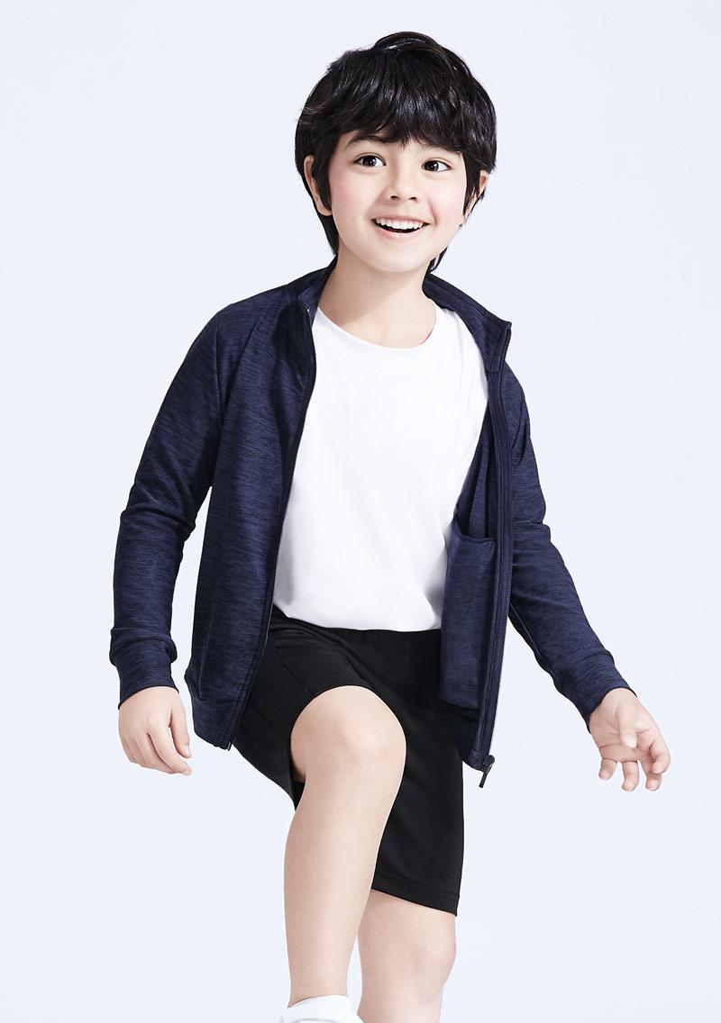 抗UV吸排涼感立領外套-童裝
