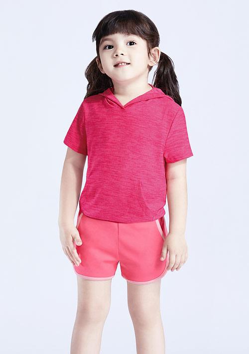 抗UV吸排涼感連帽上衣-童裝