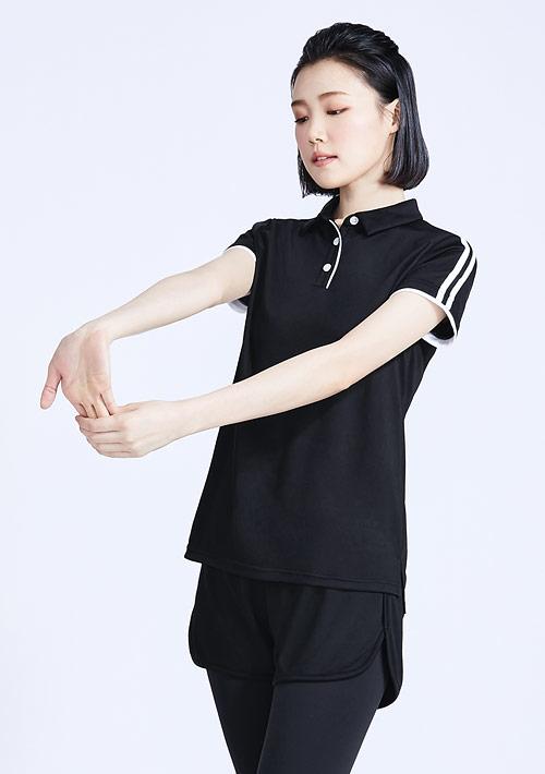 抗UV吸排拼色條紋袖polo衫