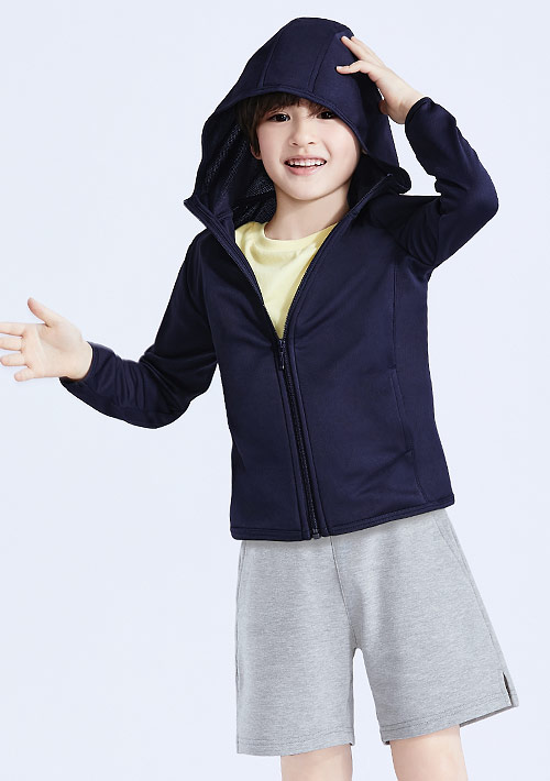 抗UV吸排連帽防曬外套-童裝