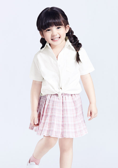 柔棉短袖襯衫-童裝