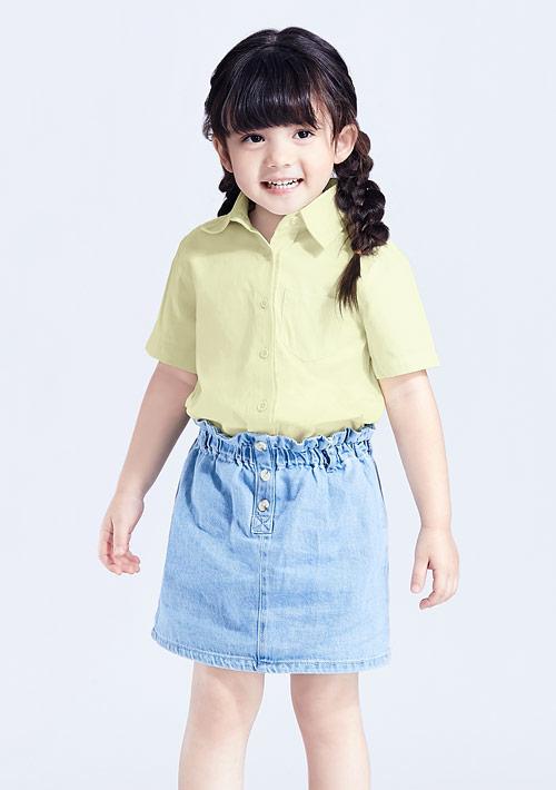 【限時$99】柔棉短袖襯衫-童裝