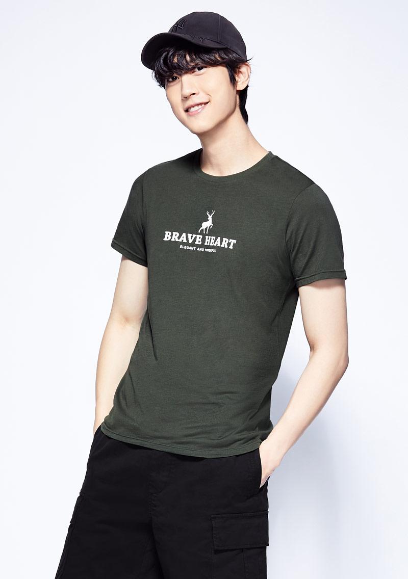 小鹿純棉印花T恤-男裝