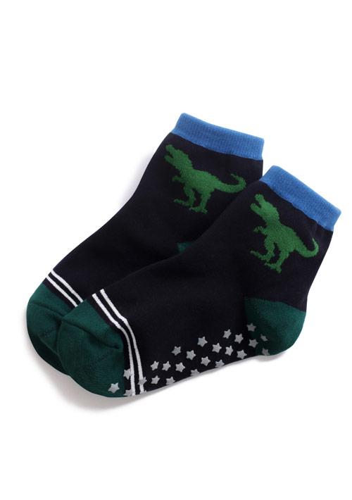 恐龍止滑中筒襪-童