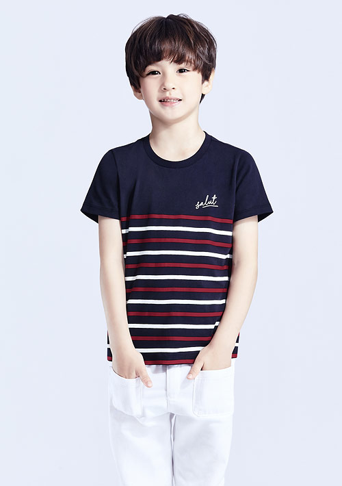 【限時$99】條紋純棉印花T恤-童裝