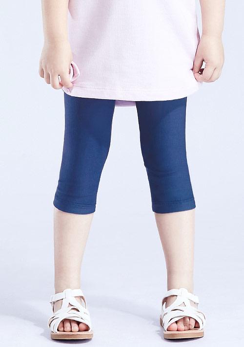 特級彈性吸排涼感七分內搭褲-童裝
