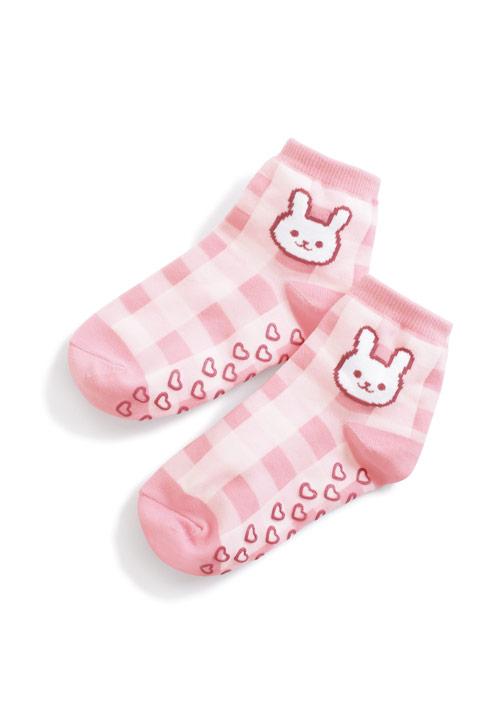 可愛動物止滑中筒襪-童