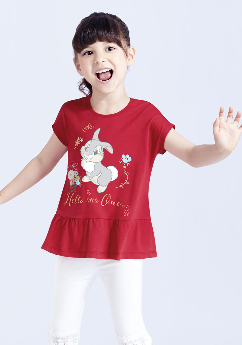 迪士尼Bambi系列純棉印花T恤-童裝-01