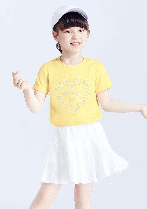 閃亮亮抗UV吸排印花上衣-童裝