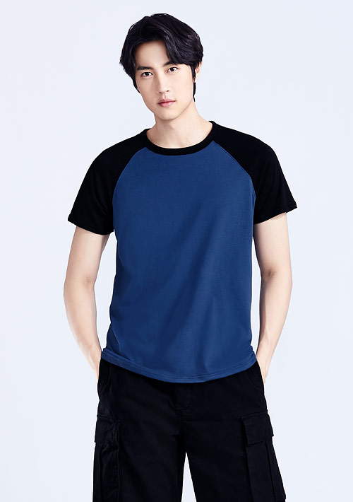 純棉配色T恤-男裝