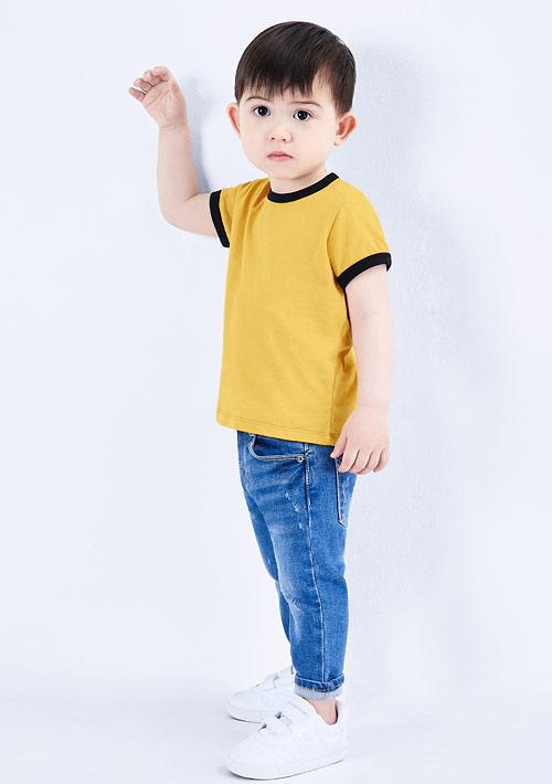 羅紋配色純棉T恤-Baby