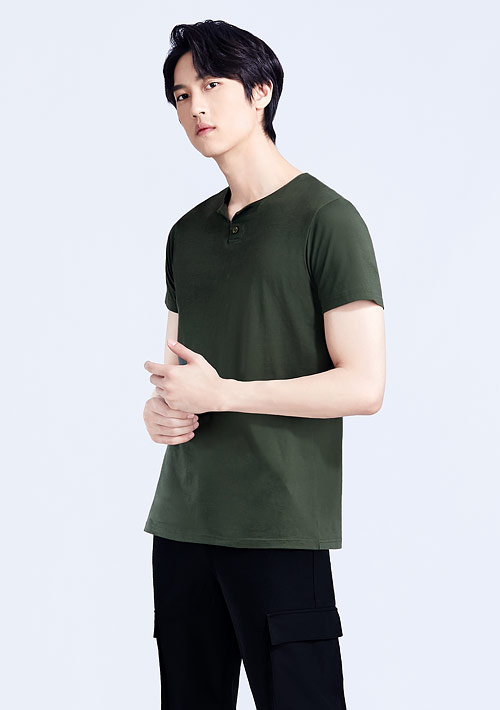 V領造型純棉上衣-男裝