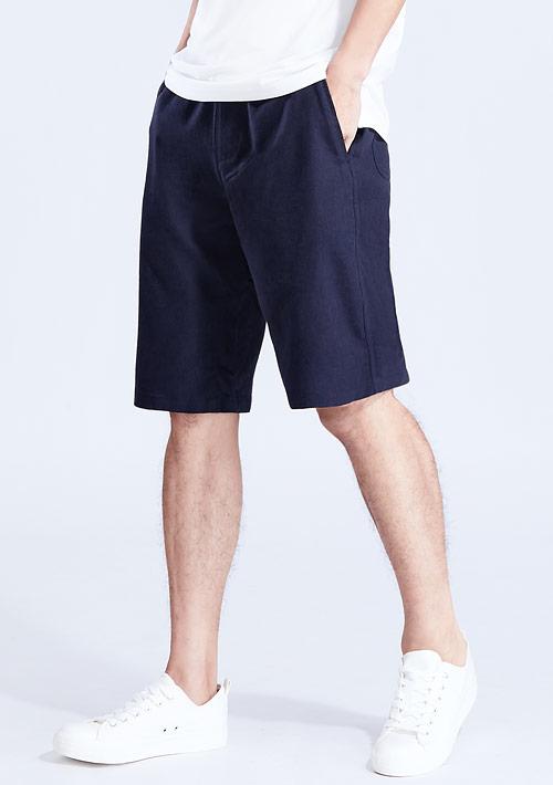 棉麻短褲-男裝