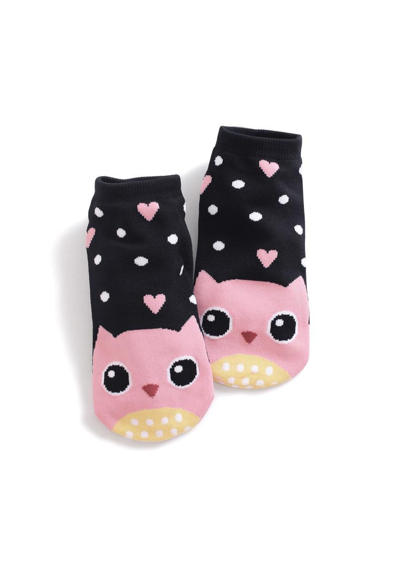貓頭鷹涼感短襪
