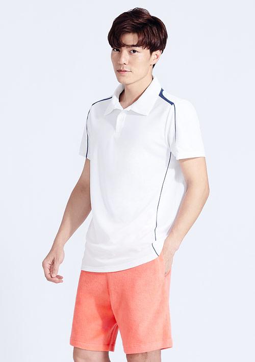抗UV吸排配色polo衫-男裝