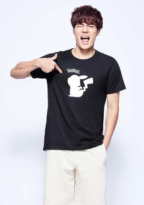 寶可夢系列純棉印花T恤-01-男裝