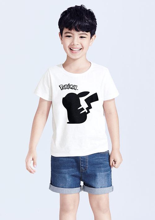 寶可夢系列純棉印花T恤-01-童裝