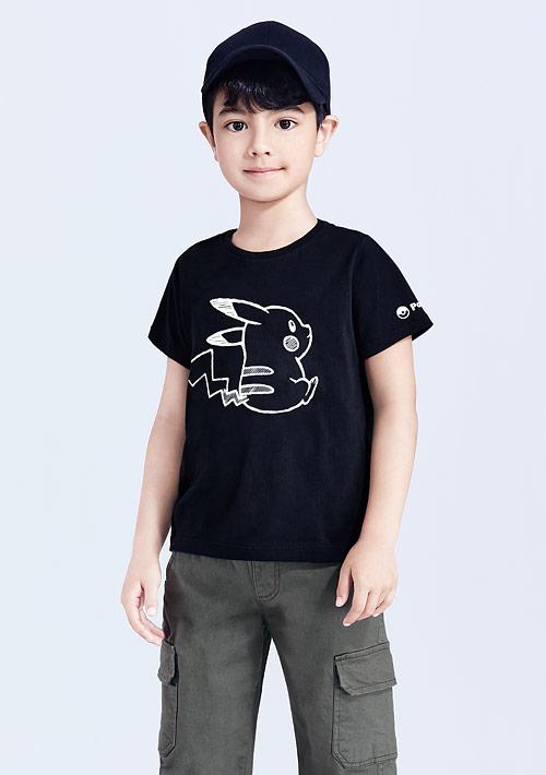 寶可夢系列純棉印花T恤-02-童裝