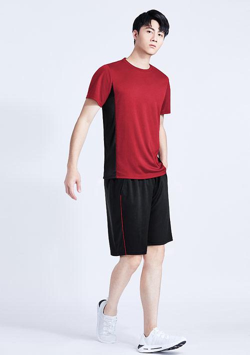 抗UV吸排配色運動短褲套裝-男裝