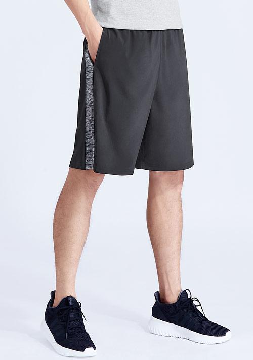 吸排快乾運動拼色短褲-男裝