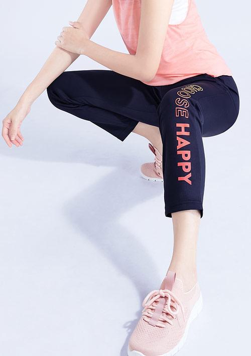 漸層文字印花抗UV吸排長褲