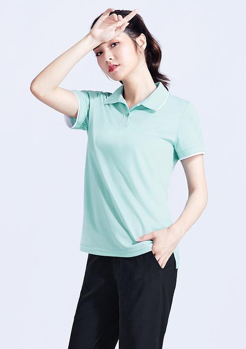 抗UV吸排短袖配色polo衫