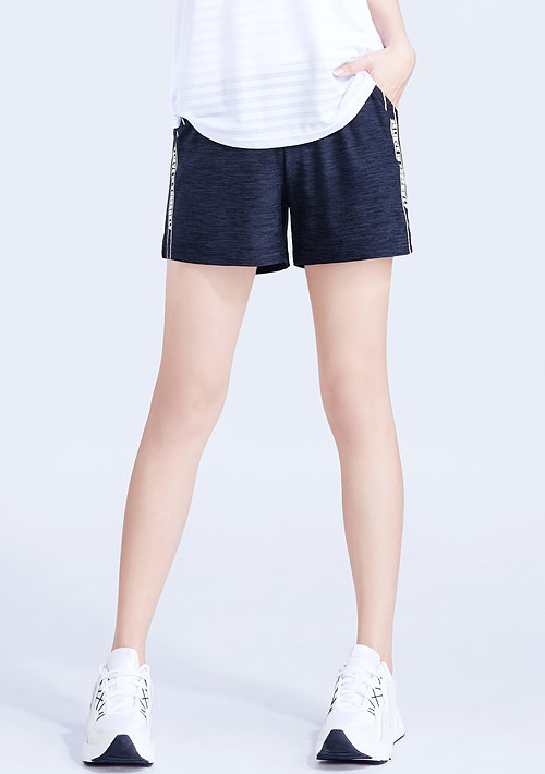 文字印花抗UV吸排涼感短褲