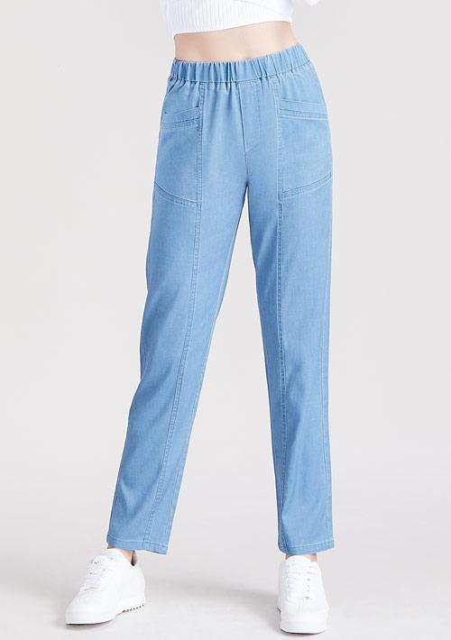 柔軟牛仔休閒褲
